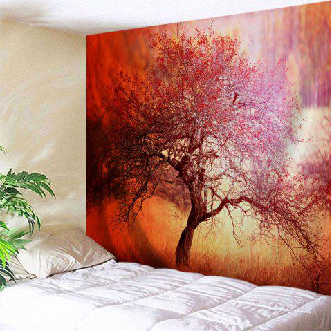 Branchy Tree Print Tapestry Wall Hanging Art - Saumon W51 INCH * L59 INCH
