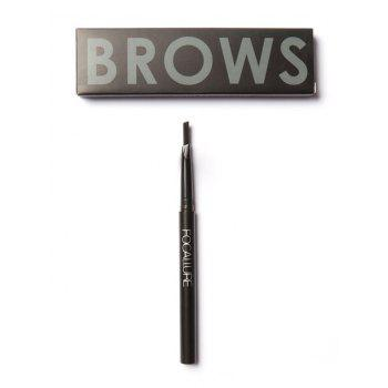Two-Headed Waterproof Auto Brows Pencil With Brush - DARK GRAY DARK GRAY