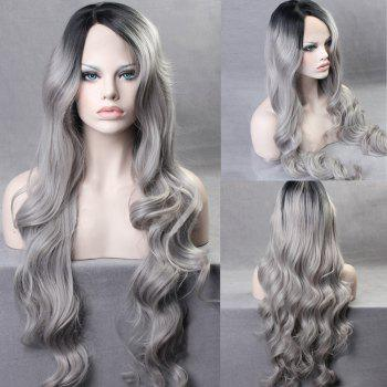 Ultra Long Side Part Gradient Body Wave Colormix Synthetic Wig