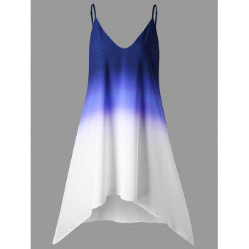 Ombre Longline Cami Top - DEEP BLUE 2XL