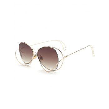 Metal Curve Surround Ombre Sunglasses