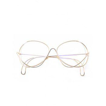 Metal Curve Surround Ombre Lunettes de soleil - Transparent