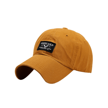 Outdoor Letters Patchwork Baseball Cap -  GINGER