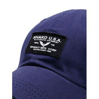 Outdoor Letters Patchwork Baseball Cap - PURPLISH BLUE