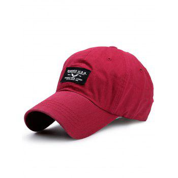 Outdoor Letters Patchwork Baseball Cap - BRIGHT RED BRIGHT RED