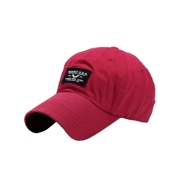Outdoor Letters Patchwork Baseball Cap - BRIGHT RED