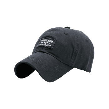 Outdoor Letters Patchwork Baseball Cap -  BLACK