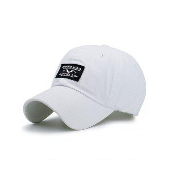 Outdoor Letters Patchwork Baseball Cap - WHITE WHITE