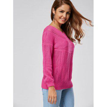 Hollow Out Cable Sweater - 2XL 2XL