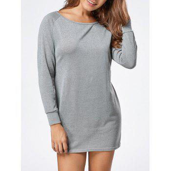 Long Sleeve Jersey Knit Tunic Top