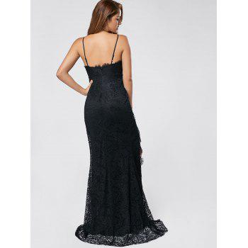 Slit Lace Maxi Slip Dress - XL XL