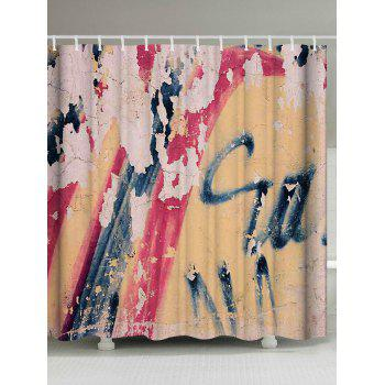 Vintage Graffiti Wall Waterproof Shower Curatin