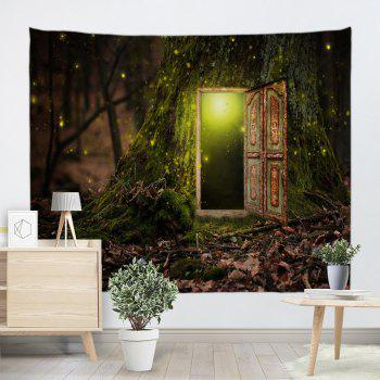 Fairy Tree Decorative Wall Art Hanging Tapestry - COLORMIX W59 INCH * L79 INCH