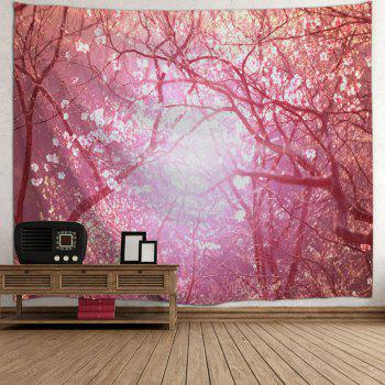 Blossom Scenic Wall Art Decoration Tapestry - PINK W51 INCH * L59 INCH