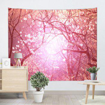Blossom Scenic Wall Art Decoration Tapestry - PINK W71 INCH * L91 INCH