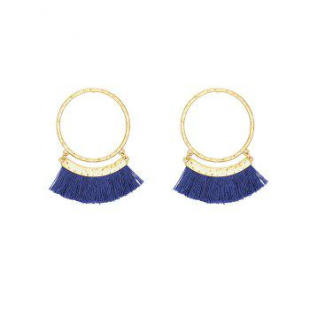 Fringed Statement Stud Hoop Earrings