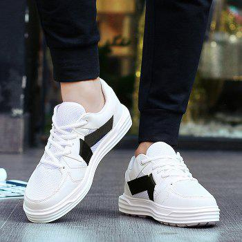 Mesh Color Block Sneakers - WHITE 40
