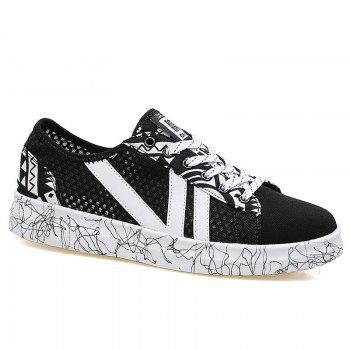 Graffitti Breathable Mesh Sneakers - BLACK 40