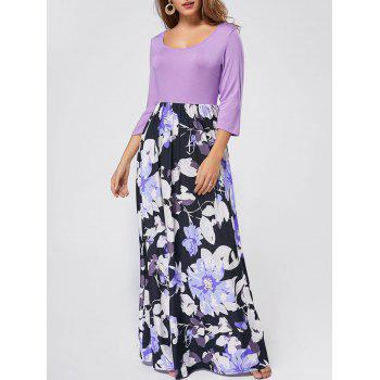 Scoop Neck Floral Maxi Dress