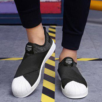 Stretch Fabric Elastic Band Casual Shoes - 43 43