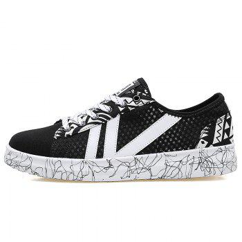 Graffitti Breathable Mesh Sneakers - 43 43