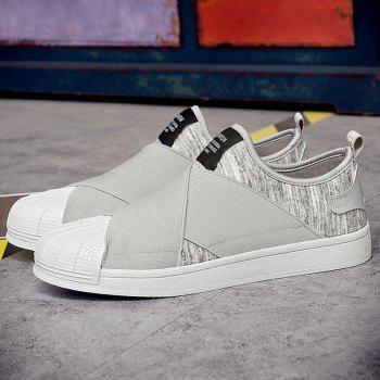Stretch Fabric Elastic Band Casual Shoes - GRAY 41