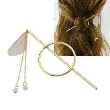 Fringed Chain Circle Beads Hair Stick