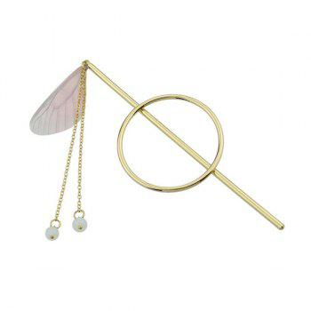 Fringed Chain Circle Beads Hair Stick - PINK
