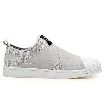 Stretch Fabric Elastic Band Casual Shoes - GRAY 42