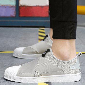 Stretch Fabric Elastic Band Casual Shoes - GRAY 40