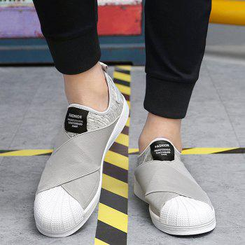 Stretch Fabric Elastic Band Casual Shoes - GRAY GRAY
