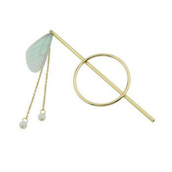 Fringed Chain Circle Beads Hair Stick - GREEN GREEN