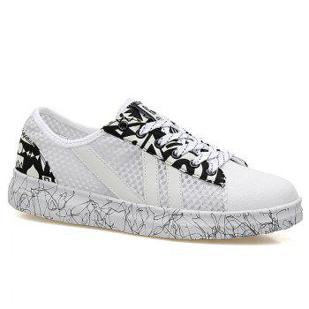 Graffitti Breathable Mesh Sneakers - WHITE 42