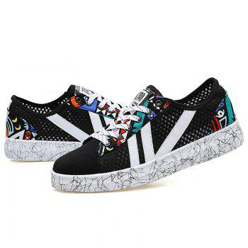 Graffitti Breathable Mesh Sneakers - BLUE/BLACK BLUE/BLACK