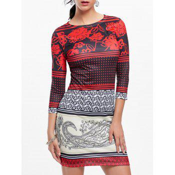 Mini Tribal Print Bodycon Dress