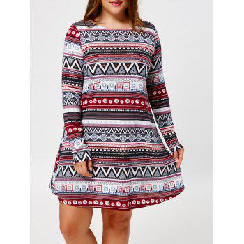 Tribal Plus Size Long Sleeve Tunic Dress