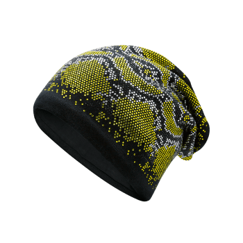 Hot Fix Rhinestone Knitting Beanie - Jaune