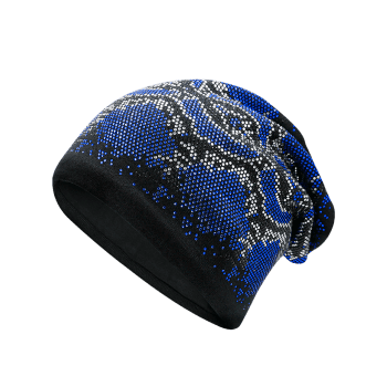 Hot Fix Rhinestone Knitting Beanie -  BLUE