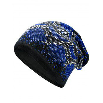 Hot Fix Rhinestone Knitting Beanie - BLUE BLUE