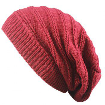 Stacking Stripe Ribbing Knitted Beanie