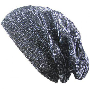 Warm Striped Rib Knitted Beanie