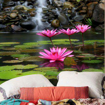 Lotus Pond Print Wall Art Tapestry - COLORMIX W59 INCH * L51 INCH