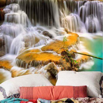 Mountain Waterfalls Printed Wall Hanging Tapestry - COLORMIX W59 INCH * L51 INCH