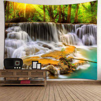 Mountain Waterfalls Printed Wall Hanging Tapestry - COLORMIX W59 INCH * L59 INCH