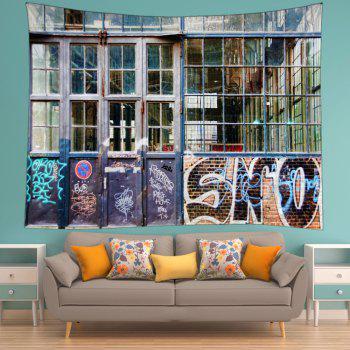 Vintage Room Window Print Tapestry Wall Hanging Art - COLORMIX W79 INCH * L59 INCH