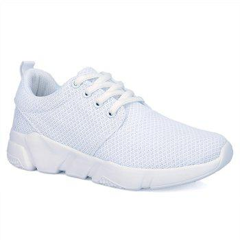 Mesh Breathable Eyelets Athletic Shoes