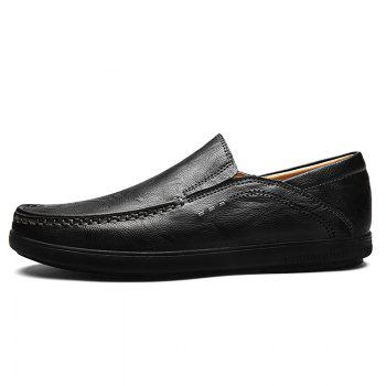 Slip On Faux Leather Casual Shoes - BLACK 40