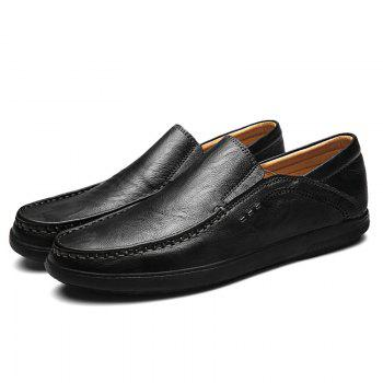 Slip On Faux Leather Casual Shoes - BLACK 41