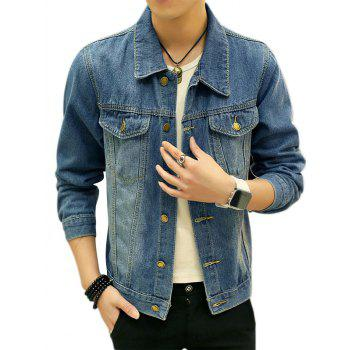Button Chest Pocket Jean Jacket