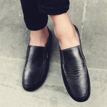 Slip On Faux Leather Casual Shoes - BLACK 43